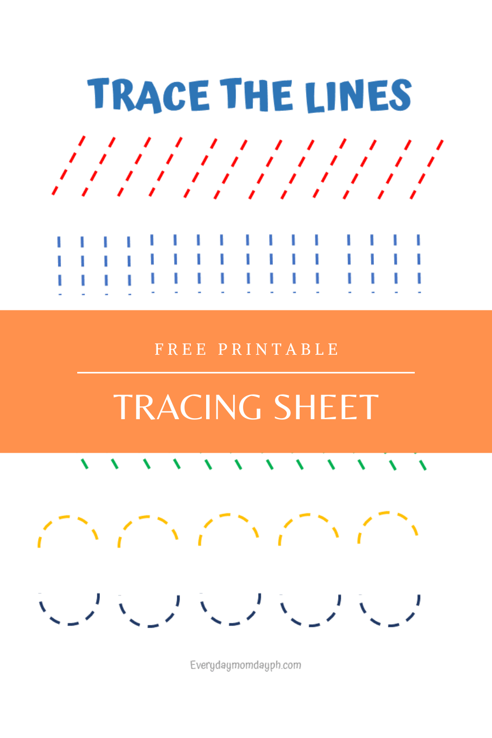 Trace the Lines Printable