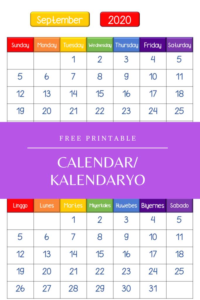 Free Printable - Calendar