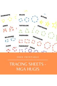 Tracing Sheets - Mga Hugis