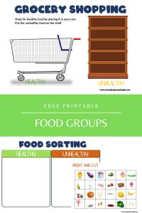 Food Groups Printable