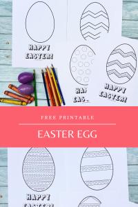 Easter Egg Coloring Sheets - Printable